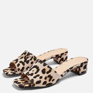 Topshop Diva Leopard Mule Sandals